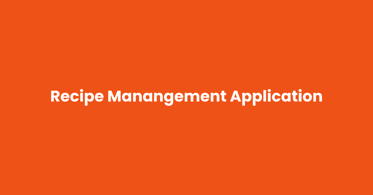 Recipe Management Application